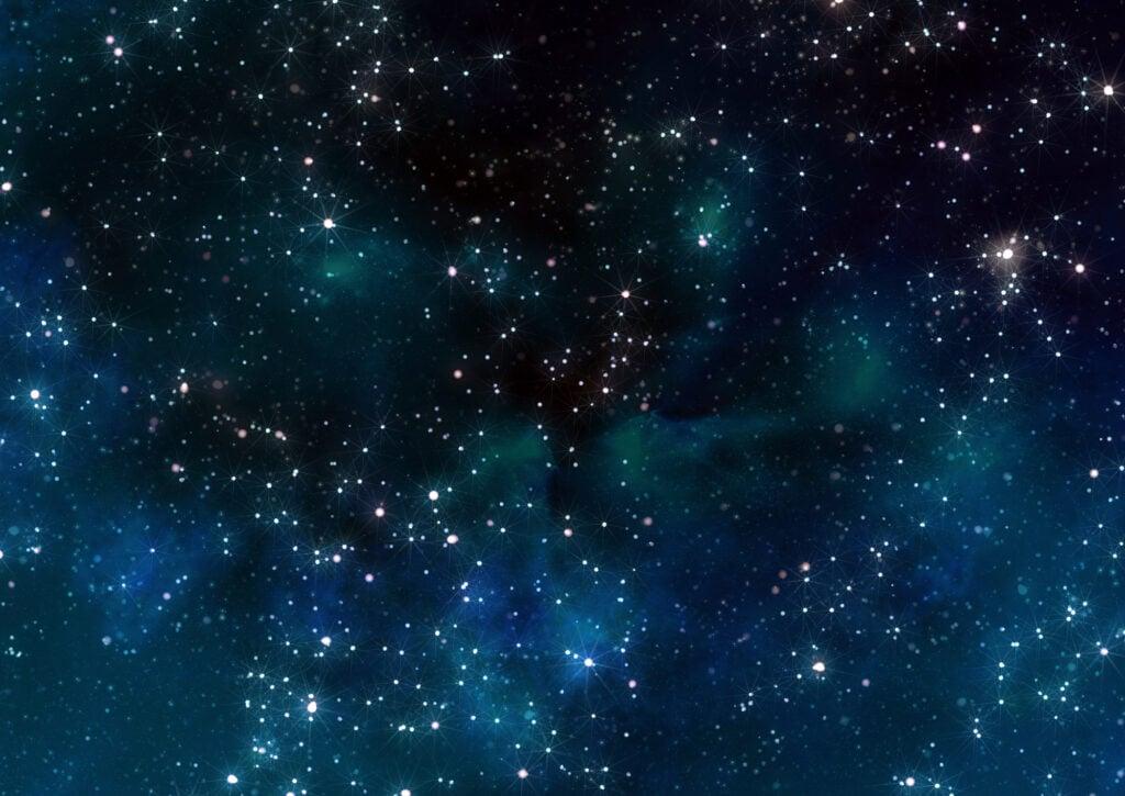 Der Himmel bei Nacht voller Sterne