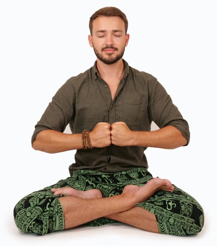 Andreas Schwarz praktiziert Meditation